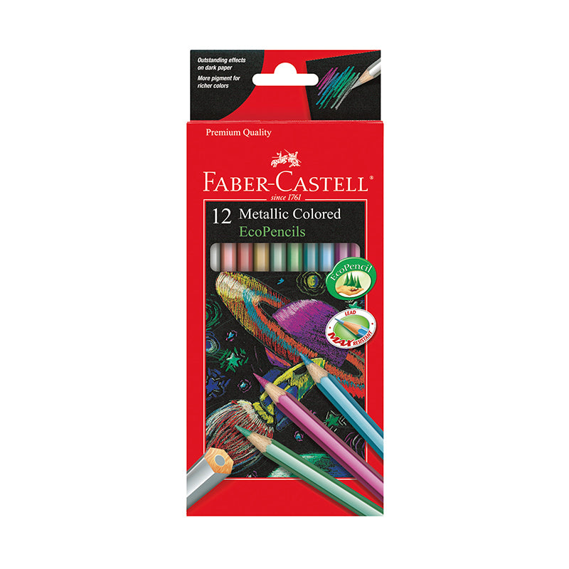 12 Metallic Colored EcoPencils - Happki