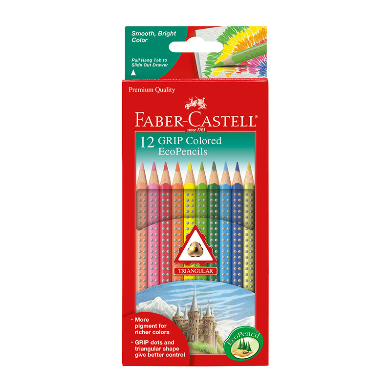 12 Grip Colored EcoPencils - Happki