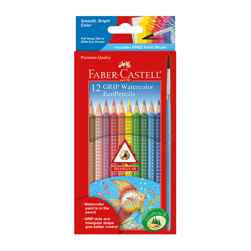 12 Grip Watercolor EcoPencils - Happki