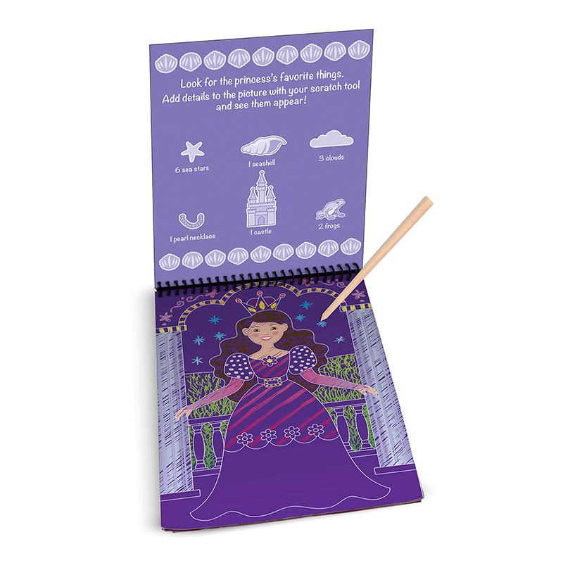 On the Go Scratch Art Color Reveal Pad - Fairy Tales - Happki