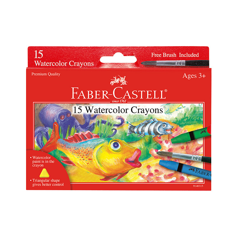 15 Watercolor Crayons - Happki
