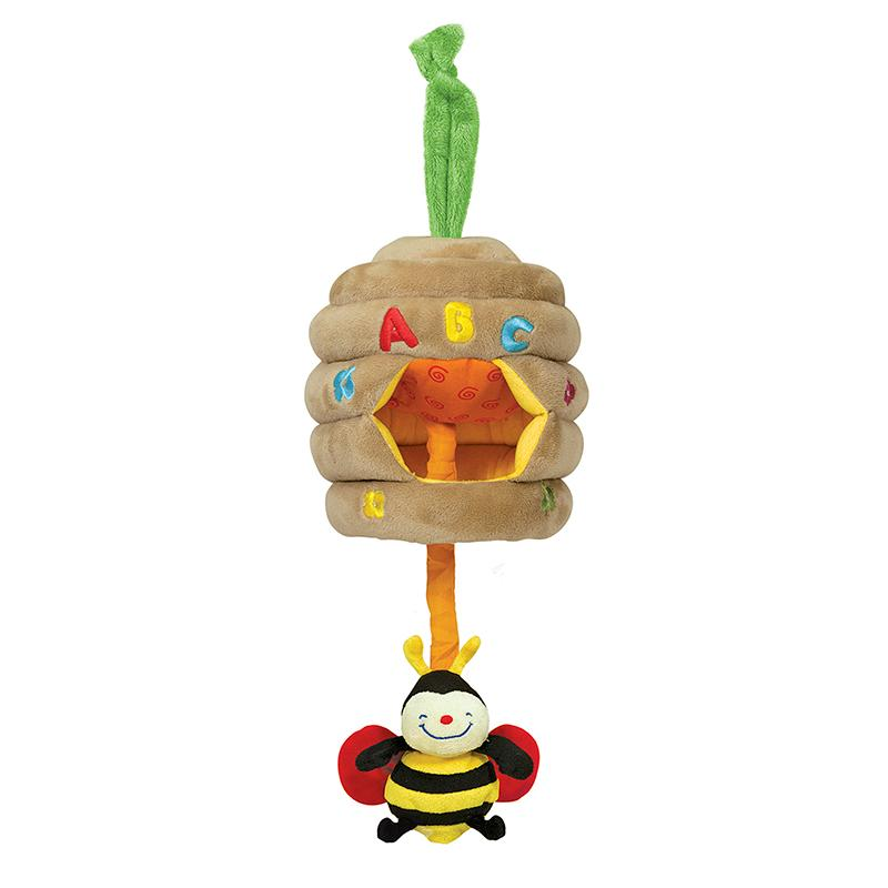 Musical Pull Beehive Baby Toy - Happki