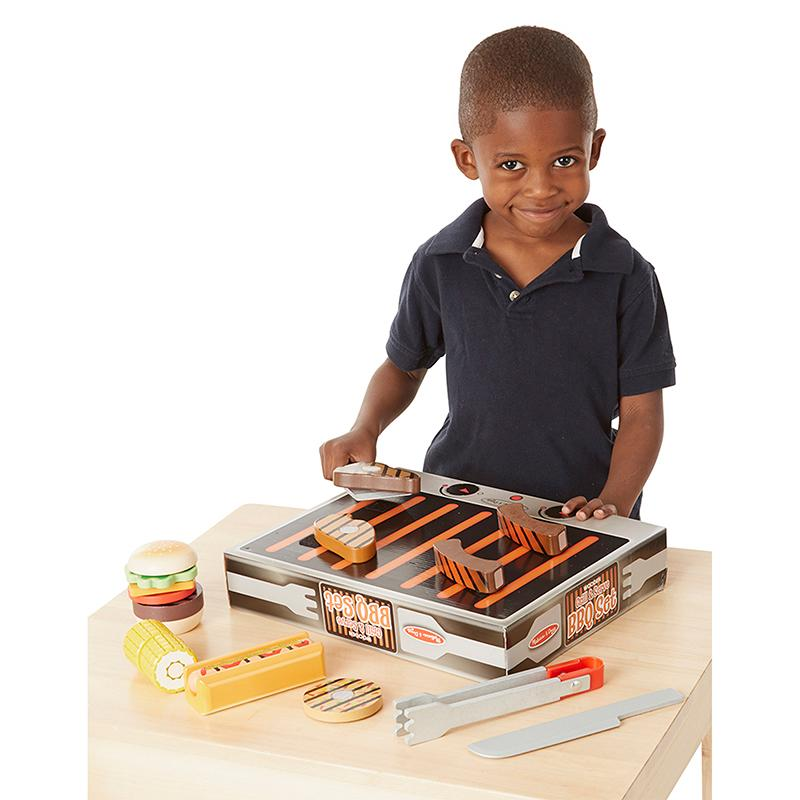 Wooden Grill & Serve BBQ Set - Happki