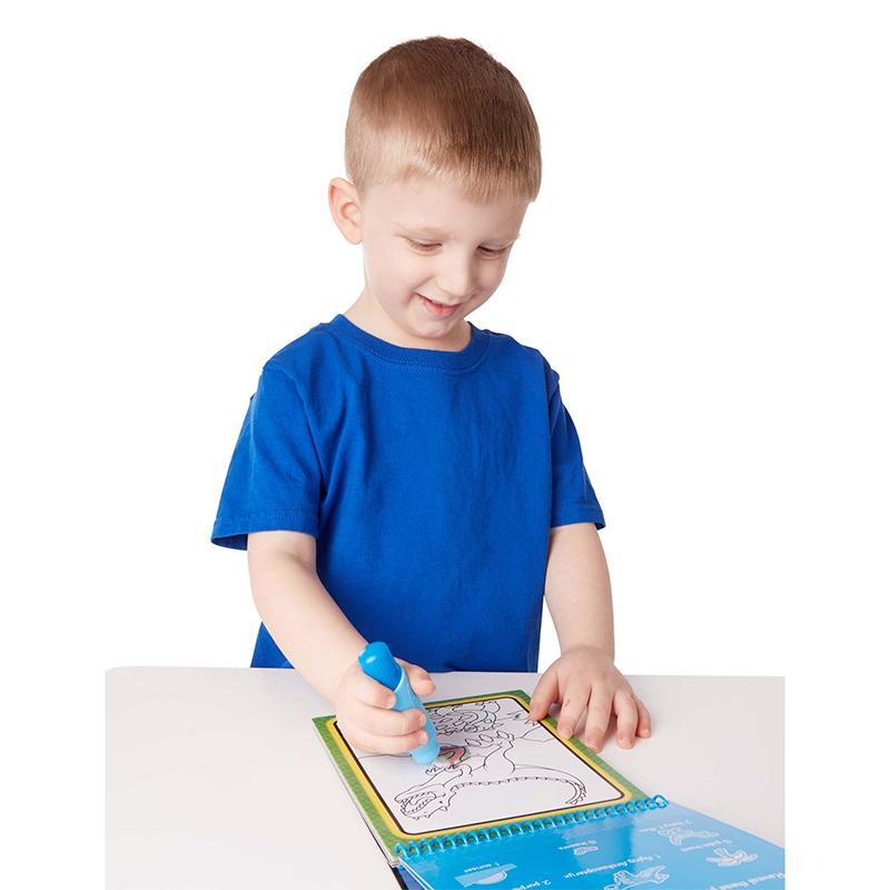 Water Wow! Dinosaurs Water-Reveal Pad - On the Go Travel Activity - Happki