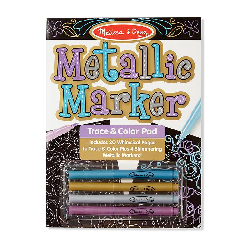 Metallic Marker Trace & Color Pad - Happki