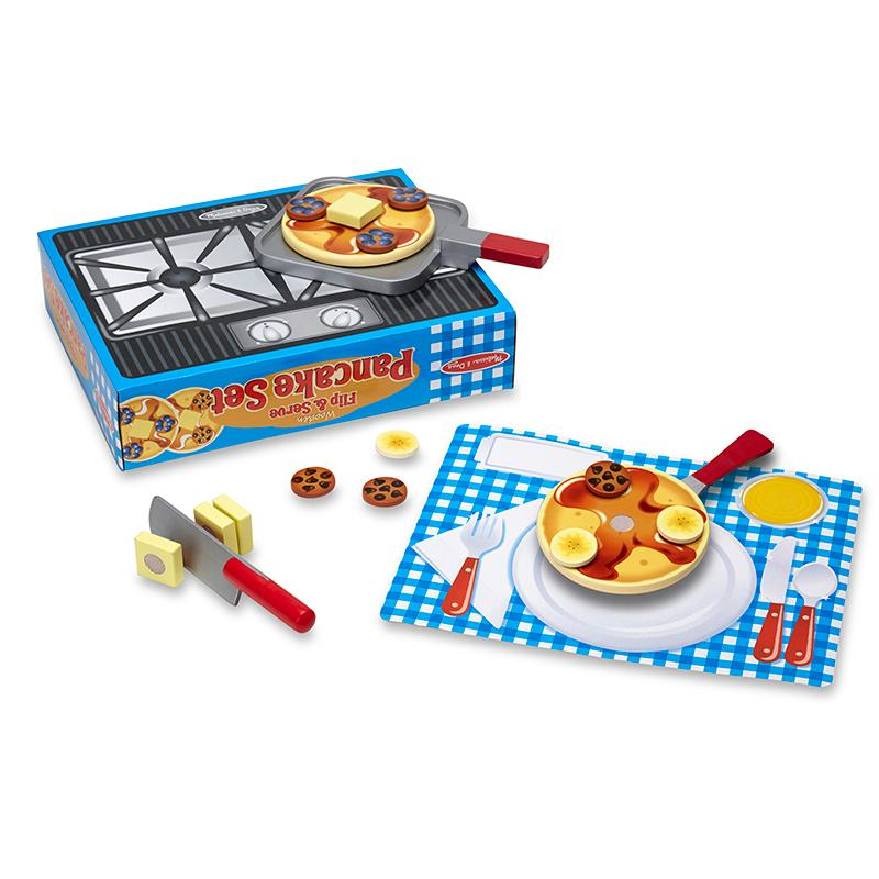 Flip & Serve Pancake Set - Wooden Play Food - Happki