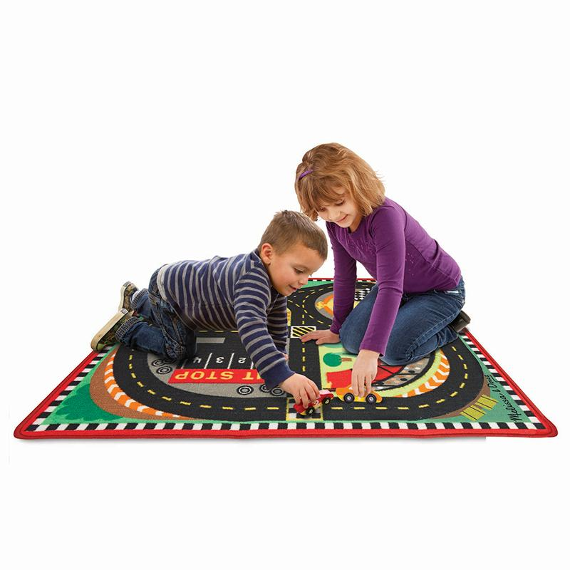 Round the Speedway Race Track Rug & Car Set - Happki
