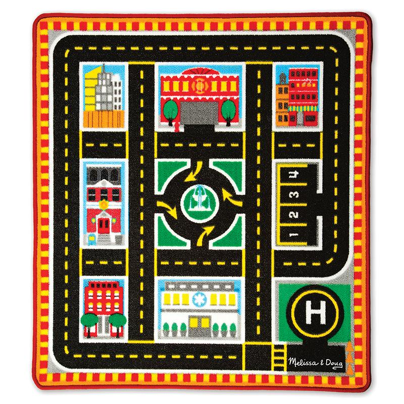 Round The City Rescue Rug & Vehicle Set - Happki