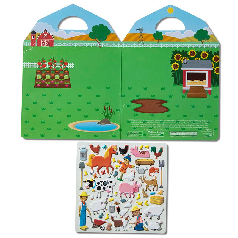 Puffy Sticker Play Set - On the Farm - Happki