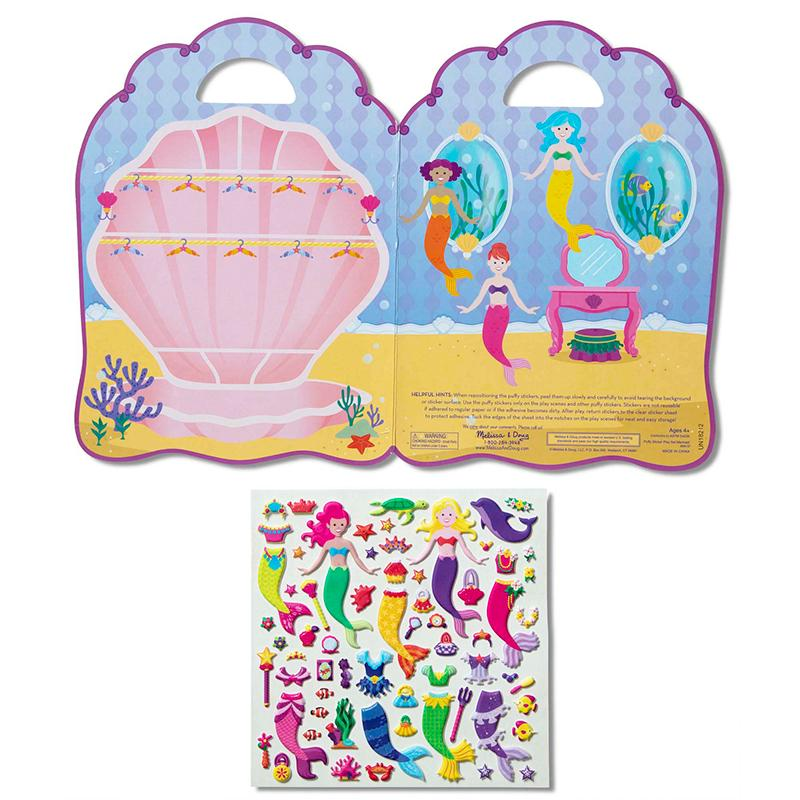 Puffy Sticker Play Set: Mermaid - Happki