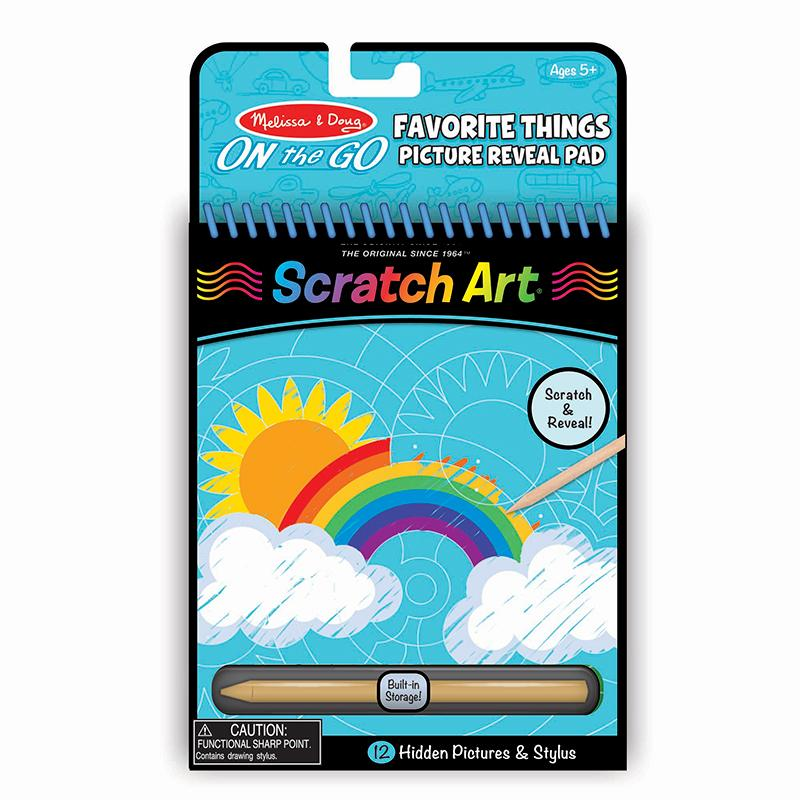 On the Go Scratch Art: Hidden Picture Pad - Favorite Things - Happki