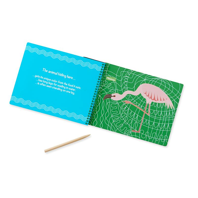 On the Go Scratch Art: Hidden Picture Pad - Safari Animals - Happki