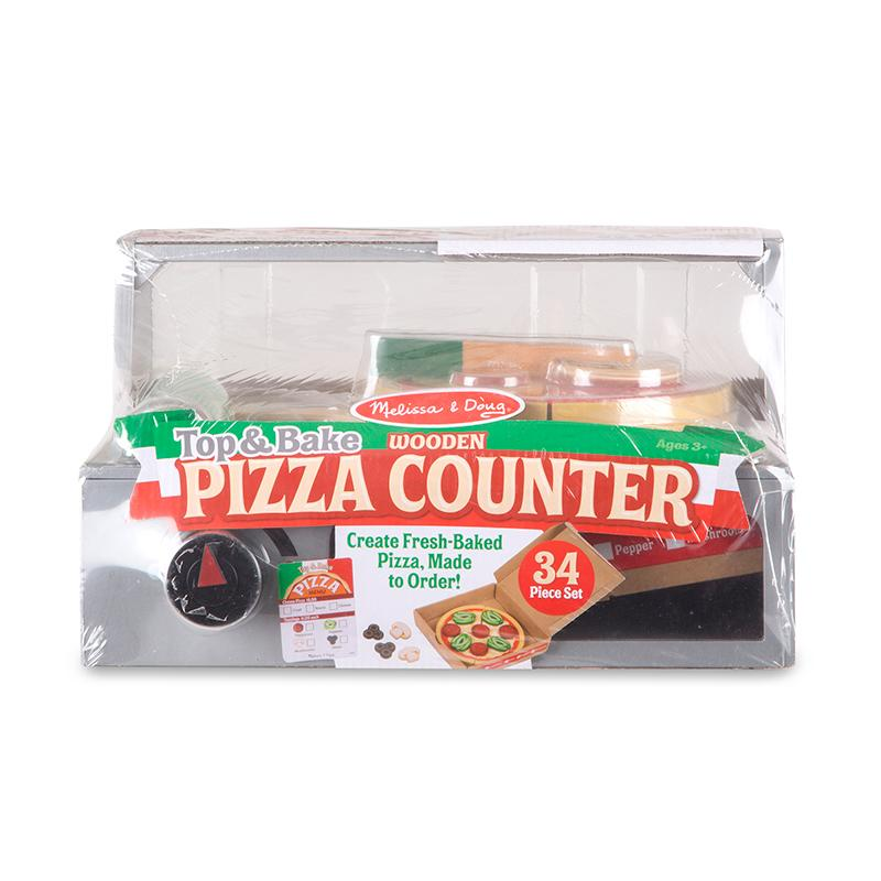 Top Bake Pizza Counter Wooden Play Food