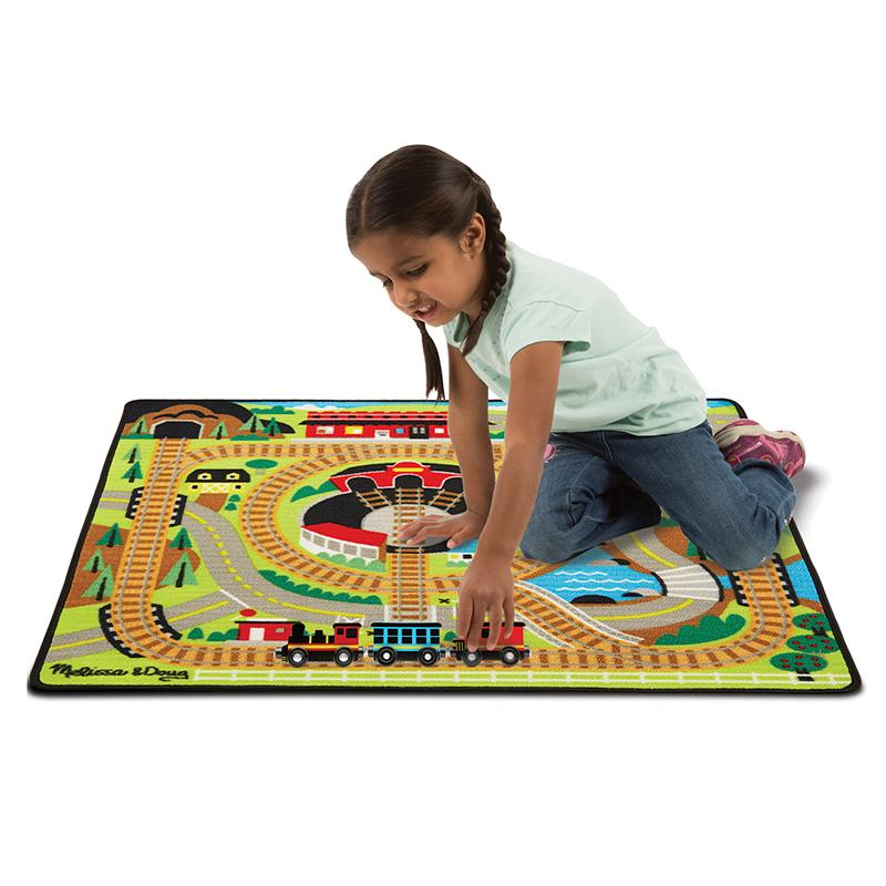 Round the Rails Train Rug - Happki
