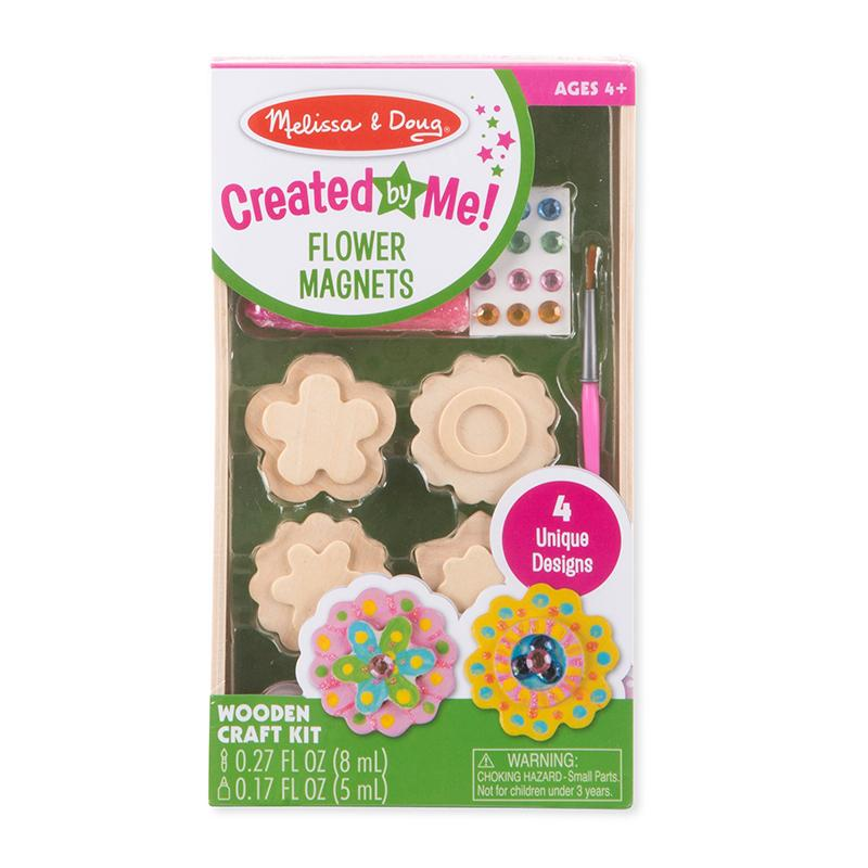 Created by Me! Flower Magnets Wooden Craft Kit - Happki