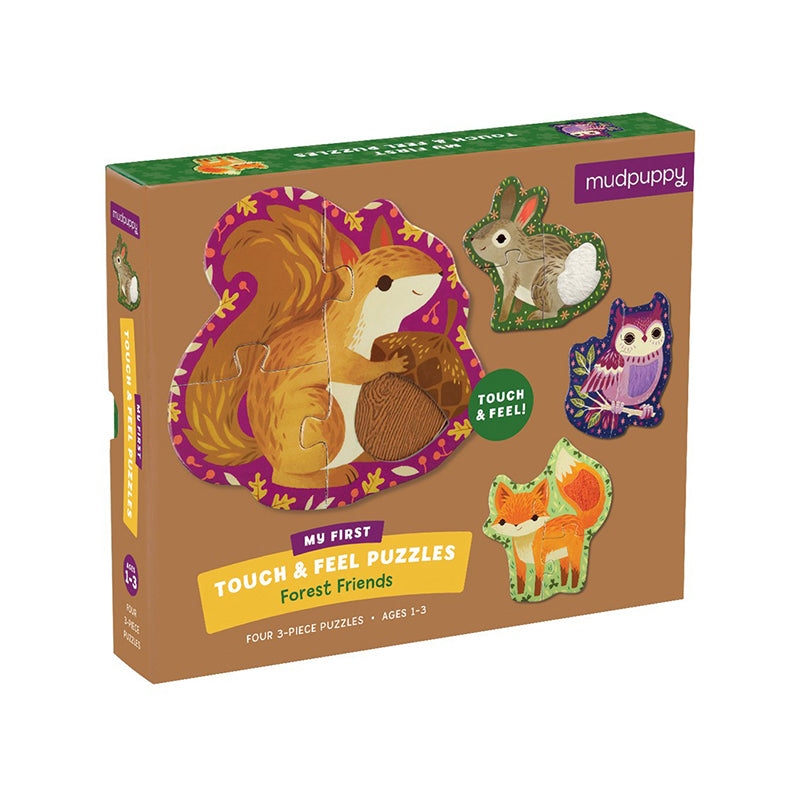 Forest Friends My First Touch & Feel Puzzle - Happki