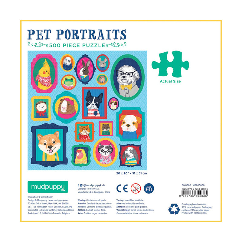 Pet Portraits 500 pc puzzle - Happki