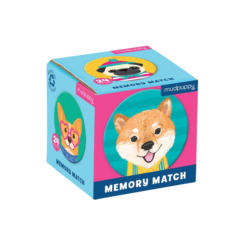 Dog Portraits Mini Memory Match - Happki