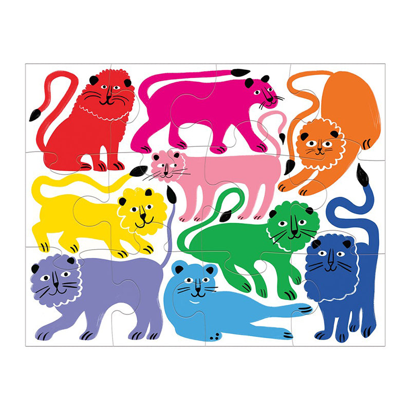 Rainbow Roar! Pouch Puzzle - Happki