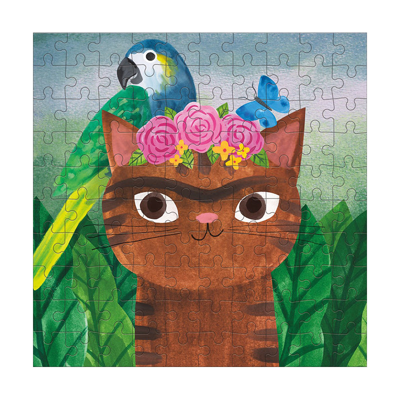 Frida Catlo Arsty Cats  100 piece Puzzle - Happki