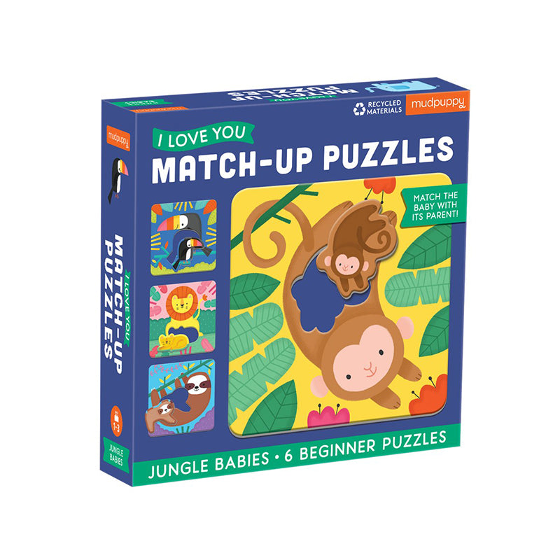 Jungle Babies I Love You Match-Up Puzzles - Happki