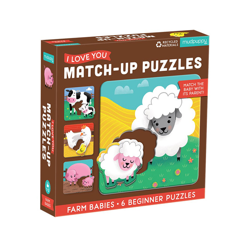 Farm Babies I Love You Match-Up Puzzles - Happki