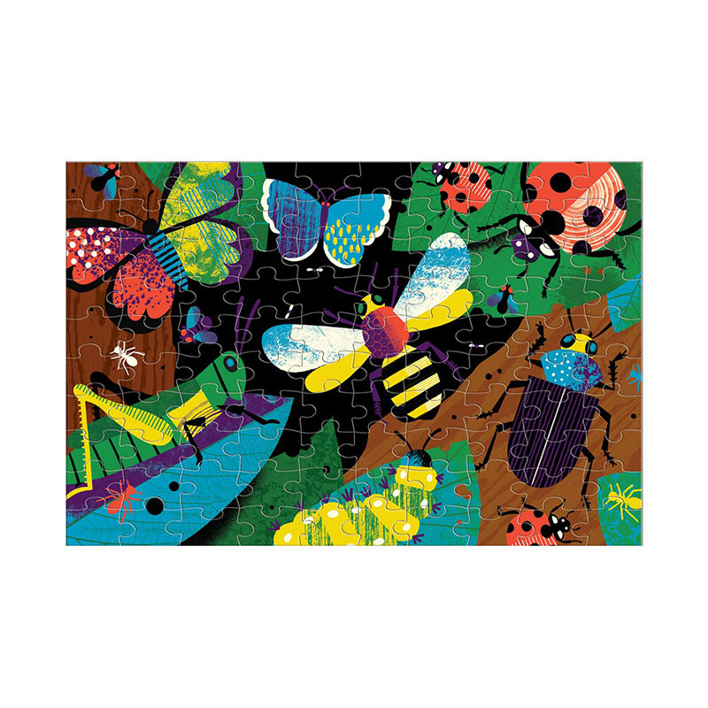 Amazing Insects Glow in the Dark 100 Piece Puzzle - Happki