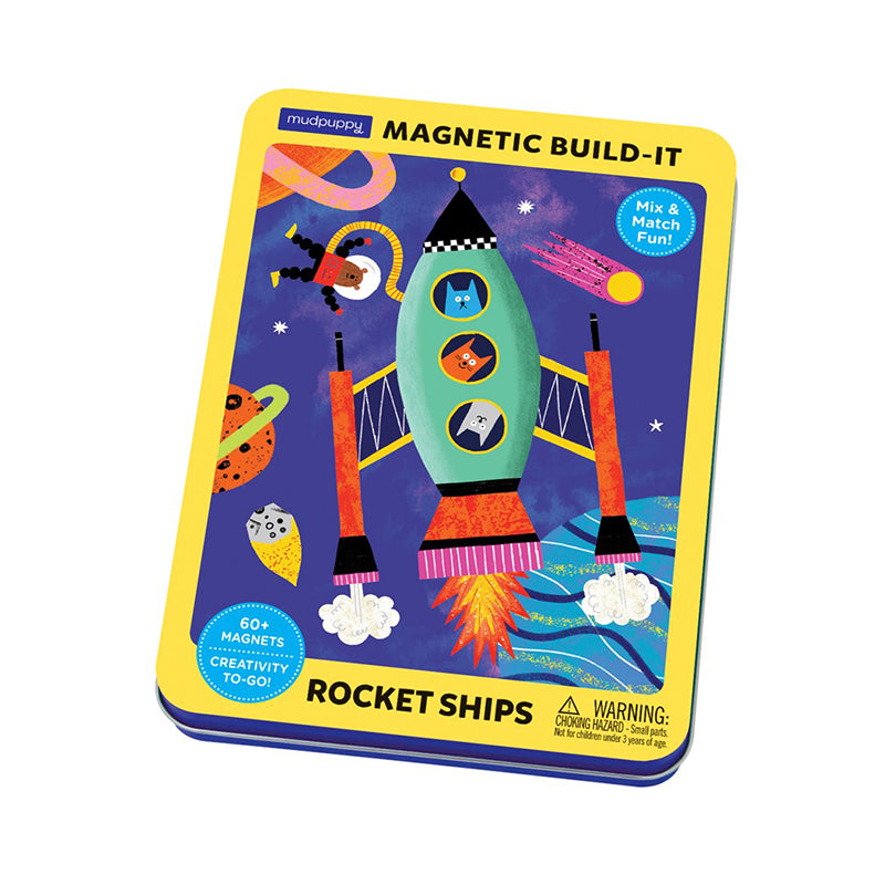 Rocket Ships Magnetic Build-it - Happki