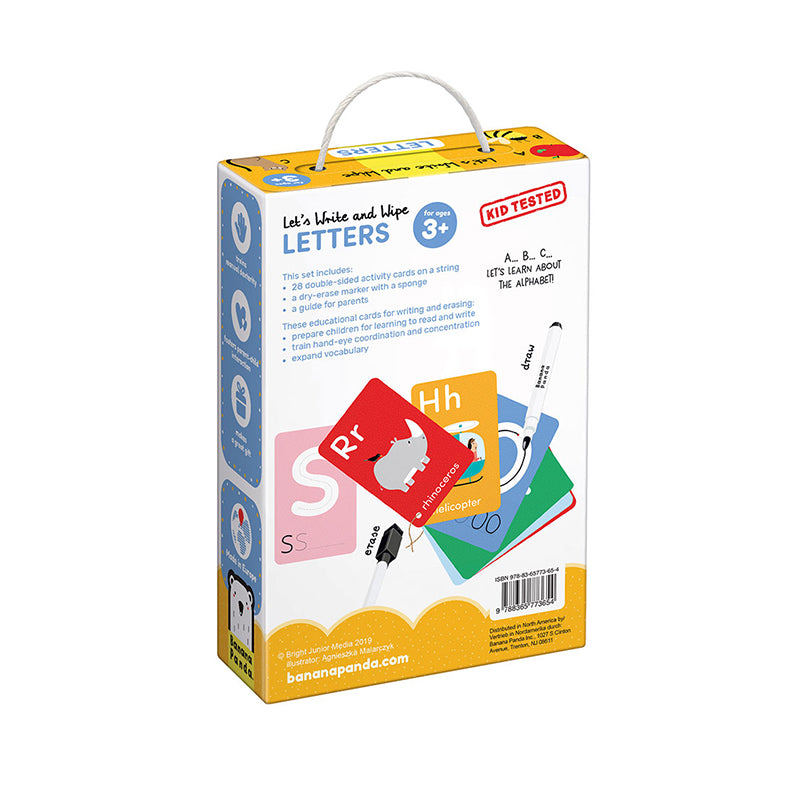 Let's Write and Wipe Letters - Happki