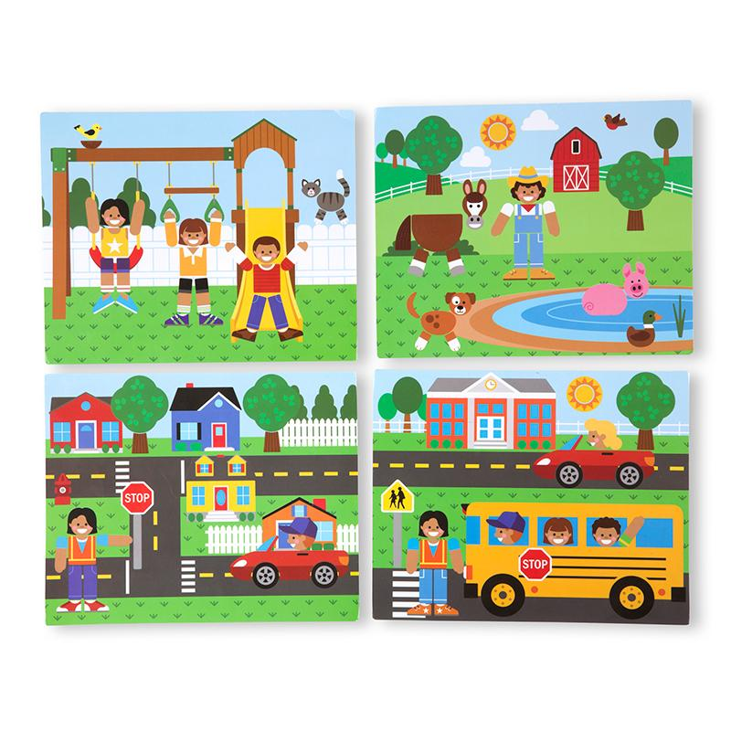 Wooden Magnetic Matching Picture Game - Happki