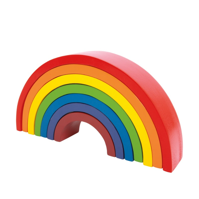 Large Wooden Building Blocks Rainbow - Happki