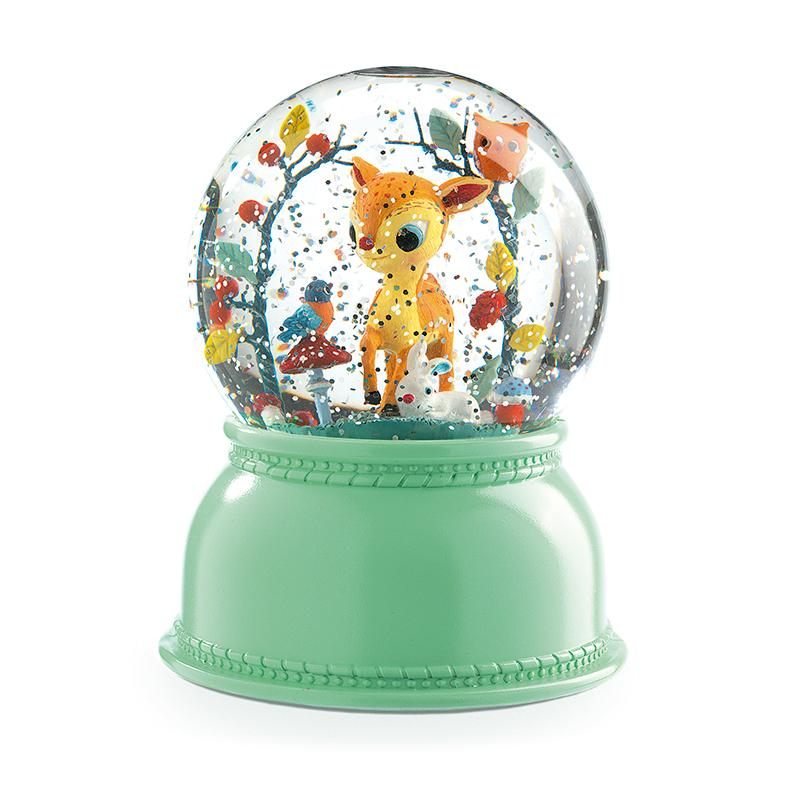 Fawn Snow Globe Night Light - Happki