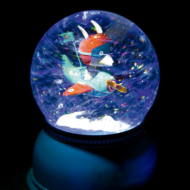 Airplane Snow Globe Night Light - Happki