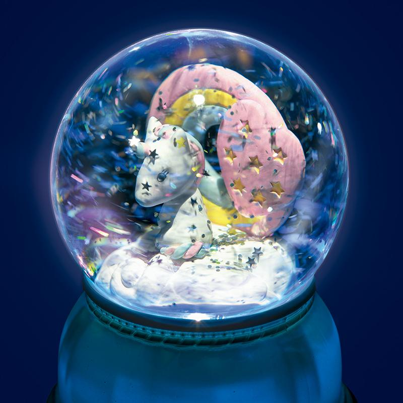 Unicorn Snow Globe Night Light - Happki