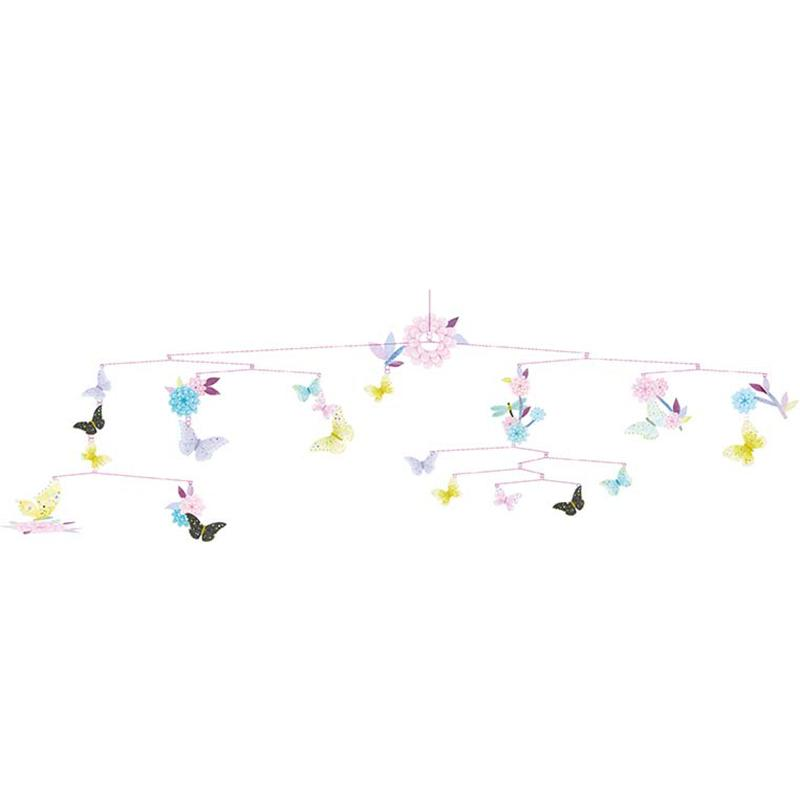 Butterfly Twirl Paper Mobile - Happki