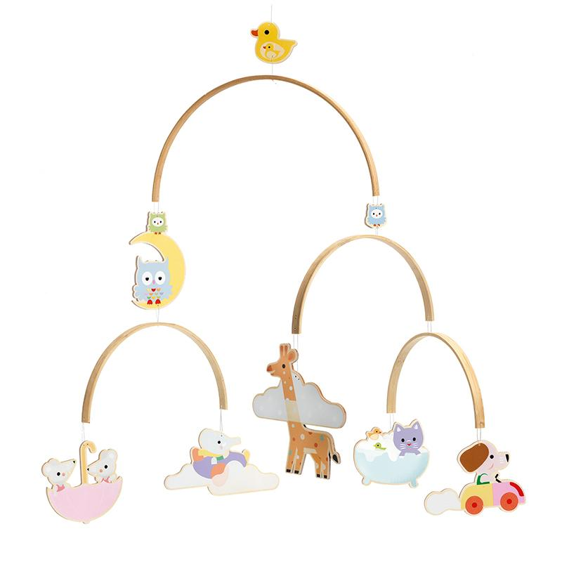 Baby Animals Wooden Mobile - Happki