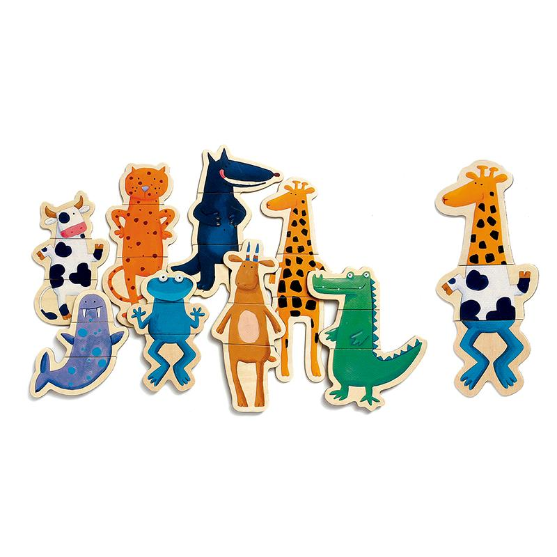 Crazy Animals Magnetic Puzzle - Happki