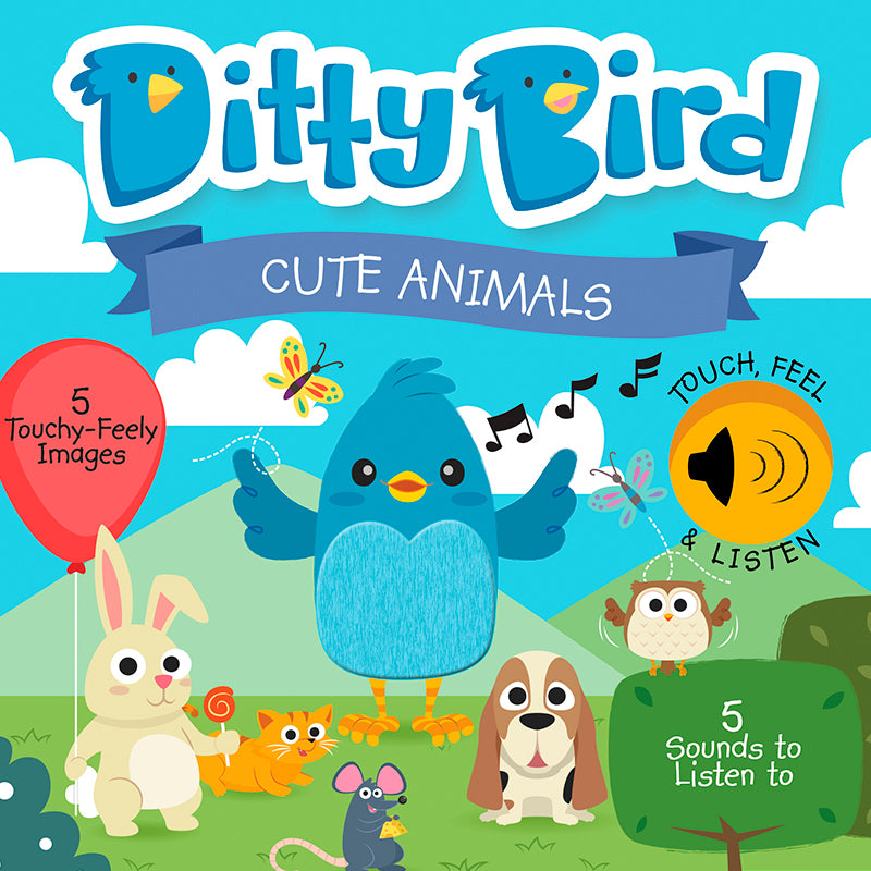 Ditty Bird - Cute Animals Touch, Feel & Listen - Happki