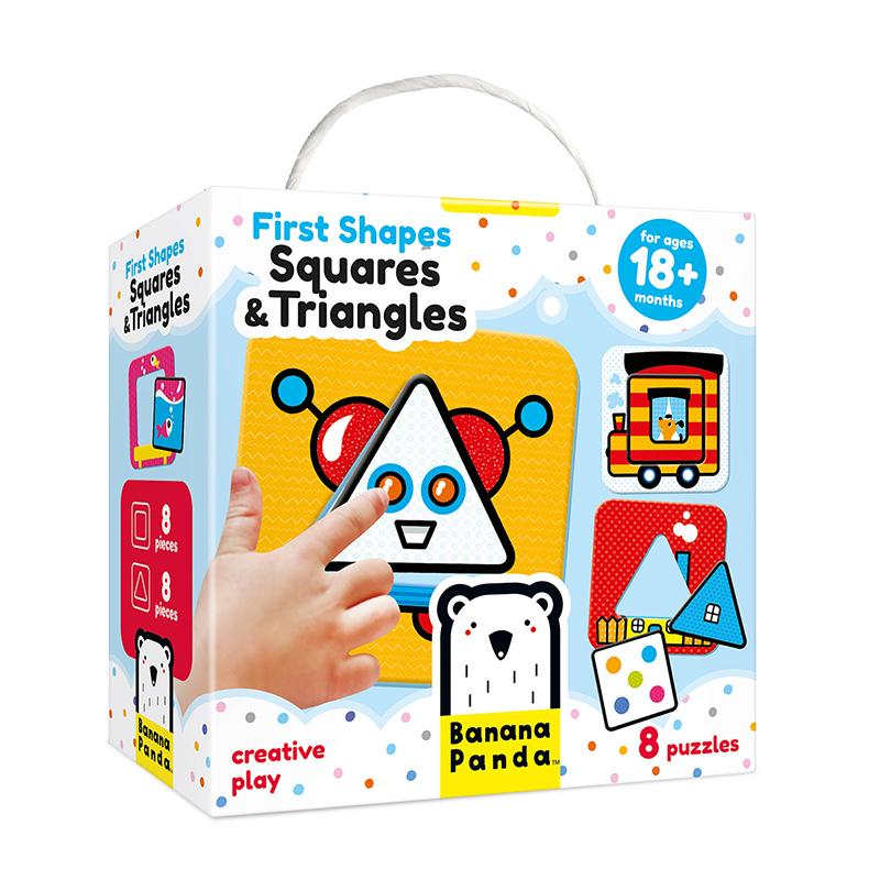 First Shapes Squares and Triangles - Happki