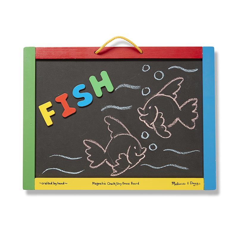 Magnetic Chalkboard and Dry-Erase Board - Happki