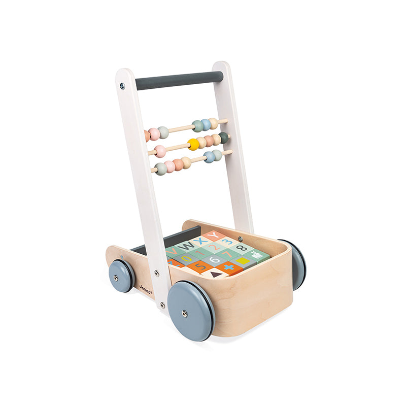 Sweet Cocoon Cart with ABC blocks - Happki