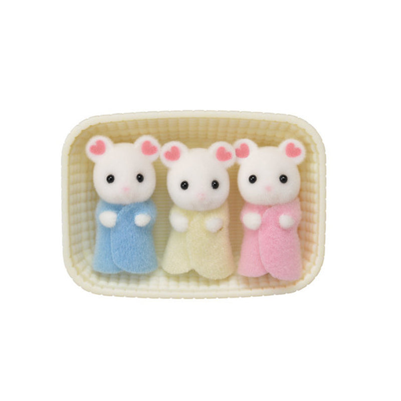 Marshmallow Mouse Triplets - Happki