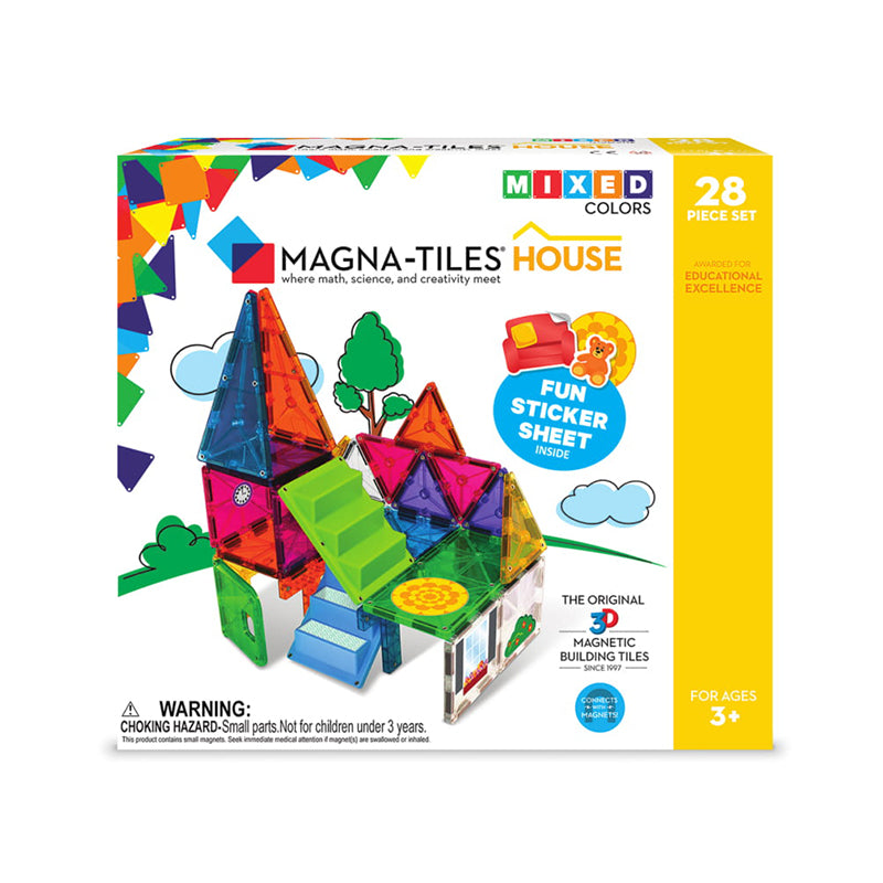 Magna-Tiles House 28-Piece Set - Happki