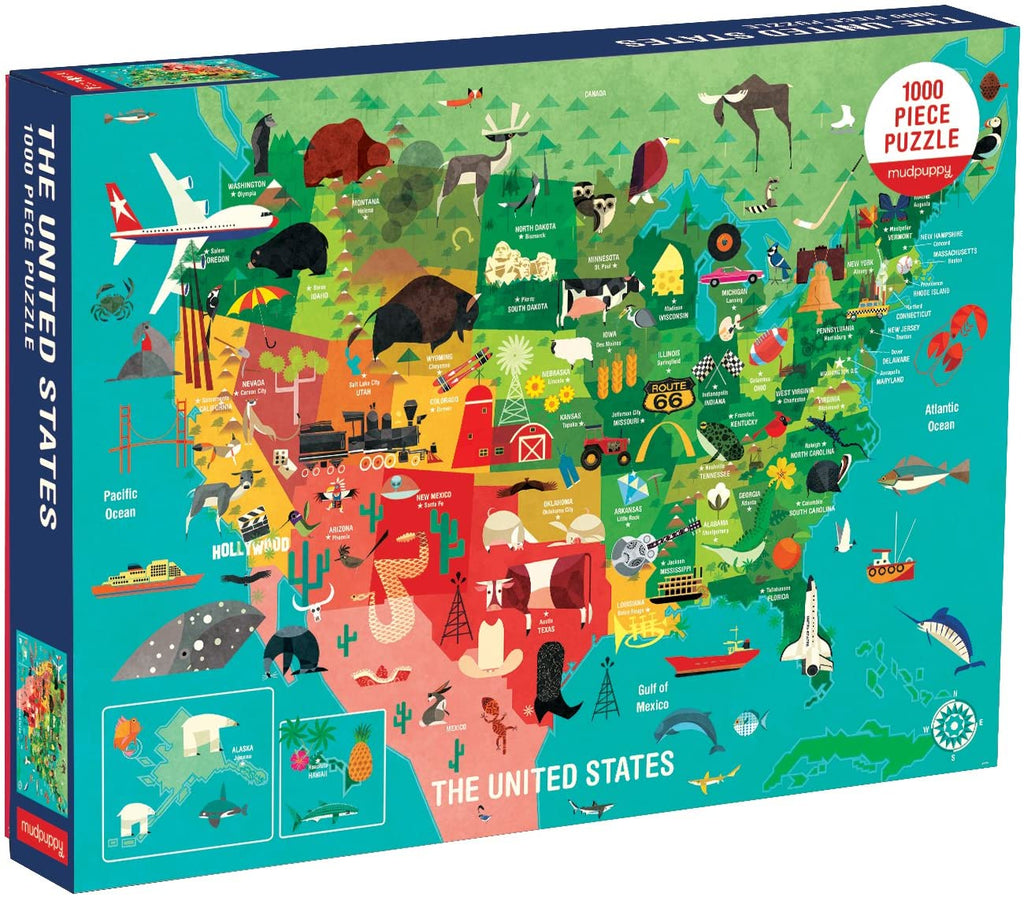 The United States 1000 Piece Family Puzzle - Happki