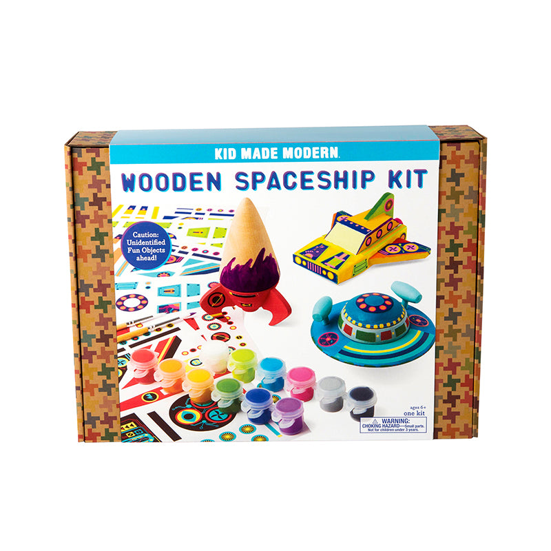 Wooden Spaceship Kit - Happki