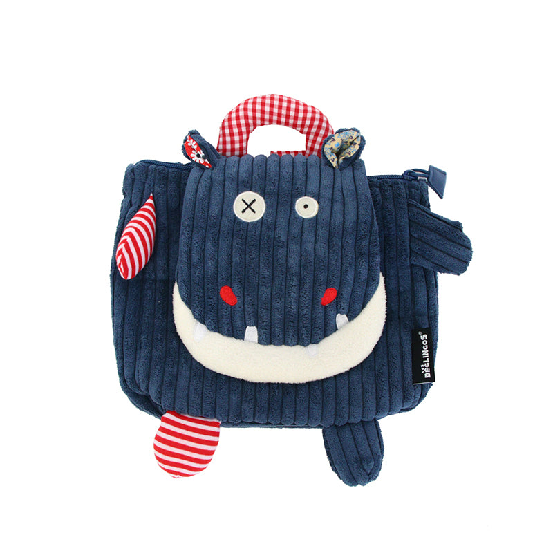 Corduroy Toddler Backpack Hippipos The Hippo - Happki