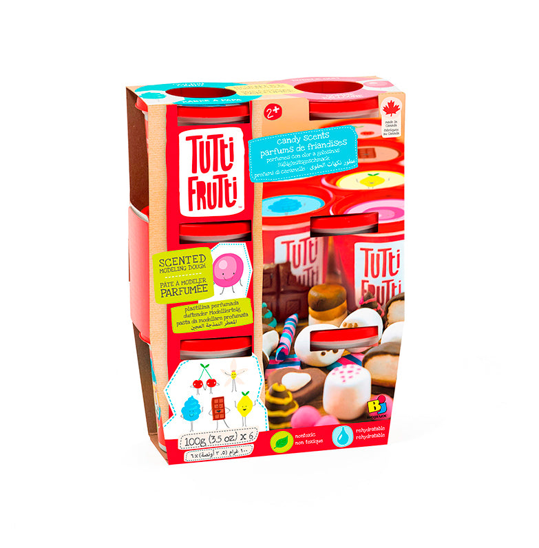 Tutti Frutti  Modeling Dough 6 pack Candy Scents - Happki