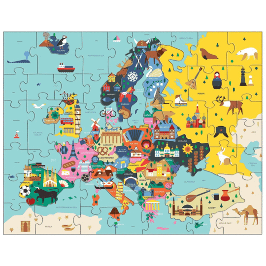 Map Of Europe Geography Puzzle - Happki