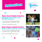 WOWmazing GIANT Bubble Concentrate Solution refills - Happki