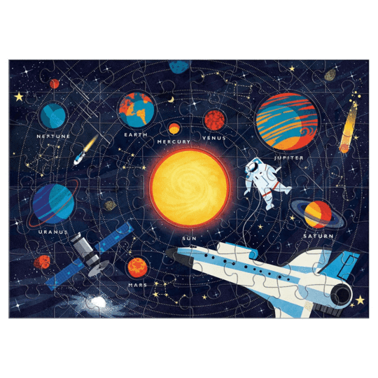 Solar System Puzzle 70 Pieces - Happki